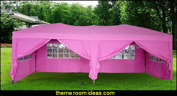 Pink 10x20 Ft Easy POP Up Wedding Canopy Party Tent Gazebo with Side Walls and Carry Case