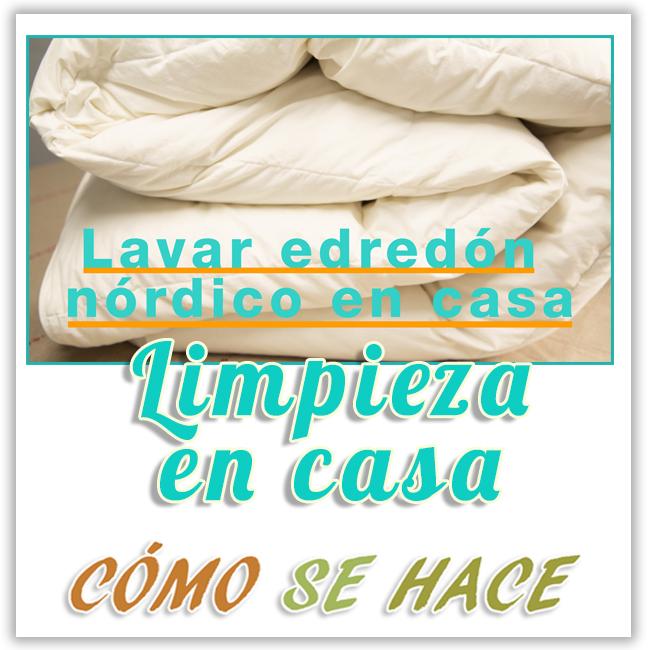 LAVAR EDREDÓN NÓRDICO DE PLUMAS EN CASA