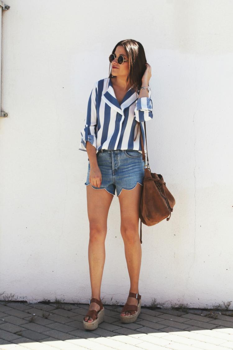camisa de rayas blog de moda