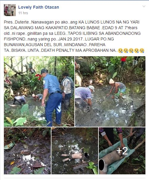 Netizens Plead With President Duterte for Justice for These Rape-Slay Victims Aged 7 and 9!