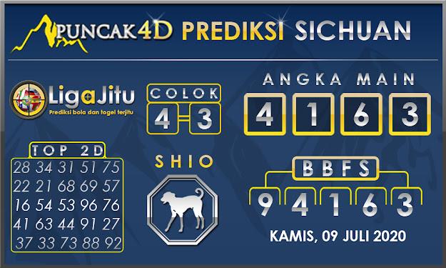 PREDIKSI TOGEL SICHUAN PUNCAK4D 09 JULI 2020
