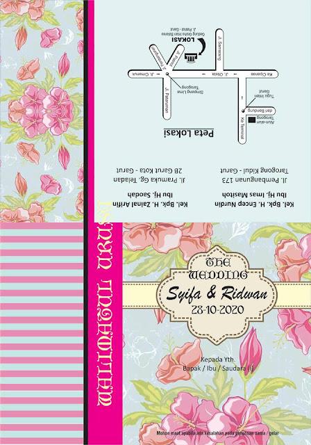 17 Desain Undangan Motif Bunga (Vintage) cdr