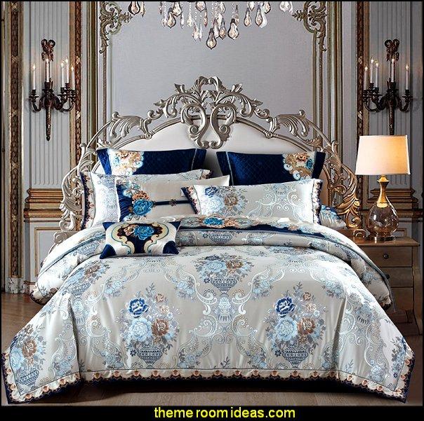 Satin Jacquard  Luxury Royal Bedding marie antoinette bedroom decor