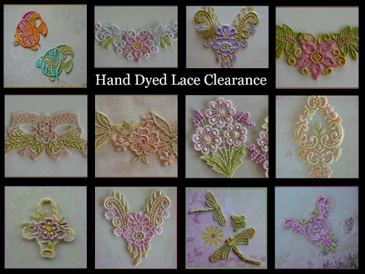 Hand Dyed Lace Clearance