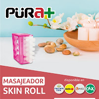Masajeador Skin Roll, Ref. 2051, fabricados con Poliuretano, Talla Unisex, de color Fucsia, 1 Ud, Fisioterapia Moldear Tonificar