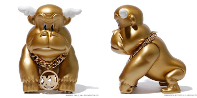 Designer Con 2019 Exclusive XLARGE x D*Face Gorilla Gold Edition Vinyl Figure by Medicom Toy