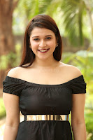 Mannara Chopra in Short Off Shoulder Black Dress ~  Exclusive 047.JPG