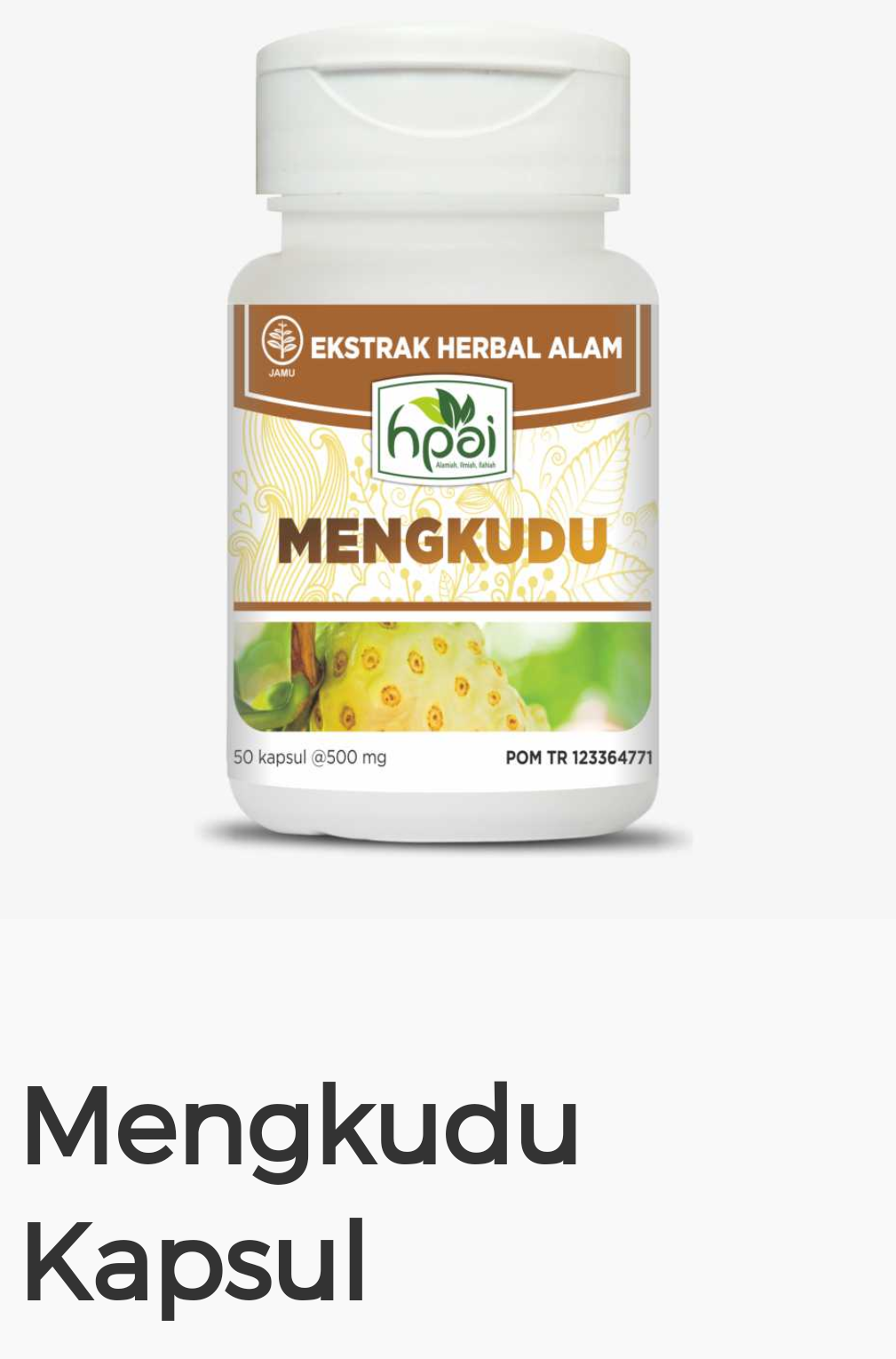 Herbal Alami Islami Hni Hpai 2018 Langsingin Mengkudu Kapsul Herba Yang Terbuat Dari Buah Pilihan Mempunyai Khasiat Meringankan Gejala Tekanan Darah Tinggi Hipertensi