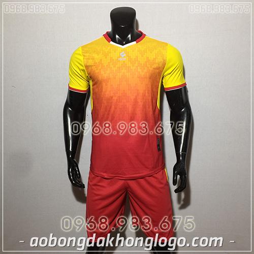 Áo bóng đá ko logo Egan Cli màu vàng đỏ