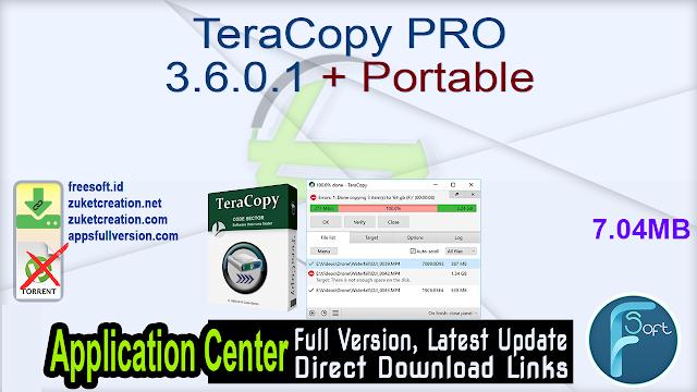 TeraCopy PRO 3.6.0.1 + Portable