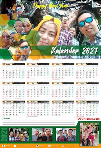 Desain Kalender Dinding 2021 Format 12 Bulan