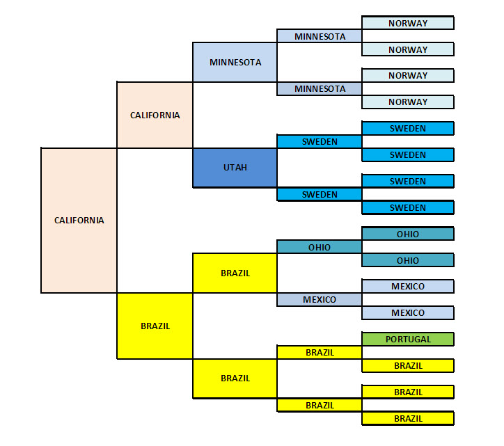 My Five Generation Birthplace Pedigree Chart