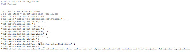 Membuat Nota Penjualan Dengan Visual Basic 6.0
