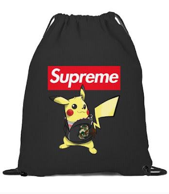 pikachu supreme sticker,  pikachu supreme wallpaper,  supreme pikachu box logo sticker,  pikachu wearing supreme,  camiseta supreme pikachu,