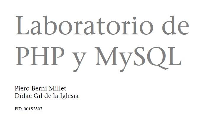 Descargate el manual del laboratorio PHP y MysQl