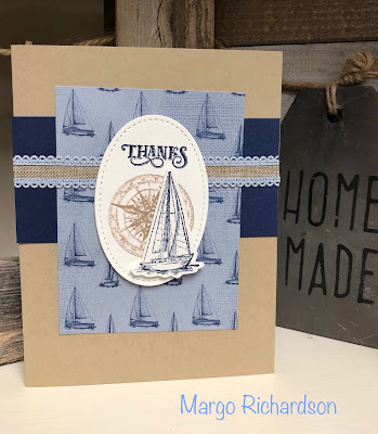 Stampin' Up!, www.stampingwithsusan.com, Come Sail Away, Scalloped Linen Ribbon
