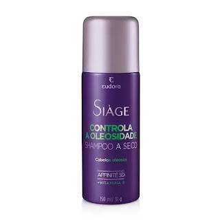 Siage shampoo a seco controle de oleosidade resenha dicas da tia