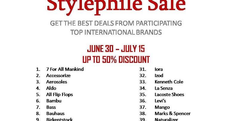 36ef00809fa4a9 Manila Shopper  TriNoma s Top International Brands SALE - July 2012