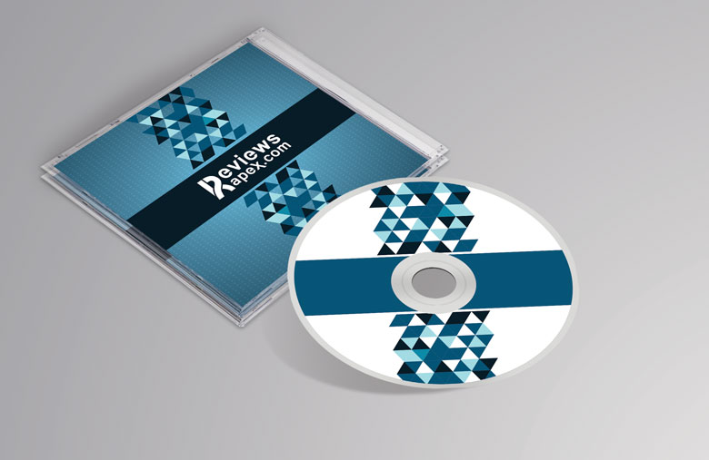 Photorealistic CD Cover and Cardboard MockUp