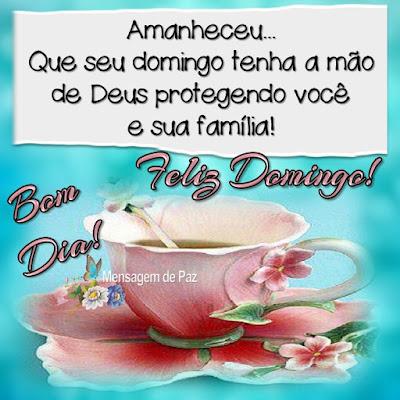 Amanheceu...  Que seu domingo tenha a mão de Deus   protegendo você e sua família!  Feliz Domingo! Bom Dia!