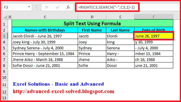 How to Split Cells Using Excel Formula – Step by Step