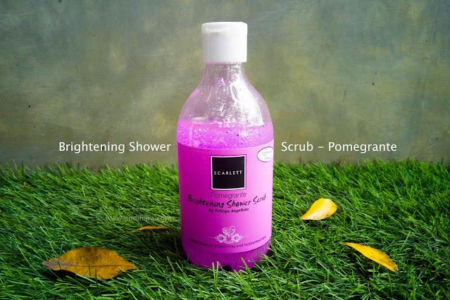 brightening shower scrub scarlett whitening
