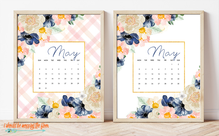 Free May Calendar Printable