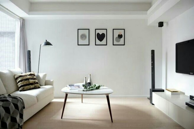 Living room in the style of minimalis