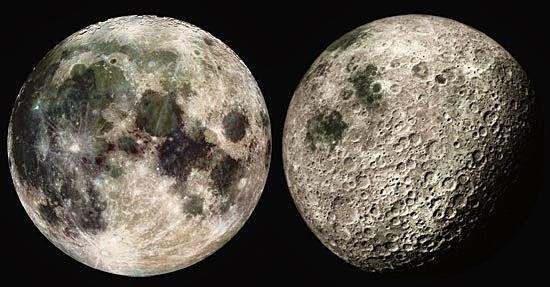 Faces da lua - Lado visível e lado oculto