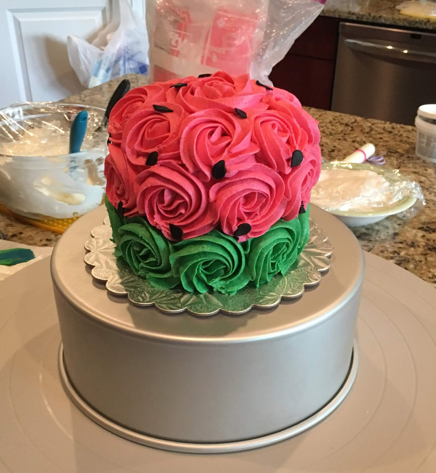 The Bake More One In A Melon Watermelon Birthday Cake Tutorial