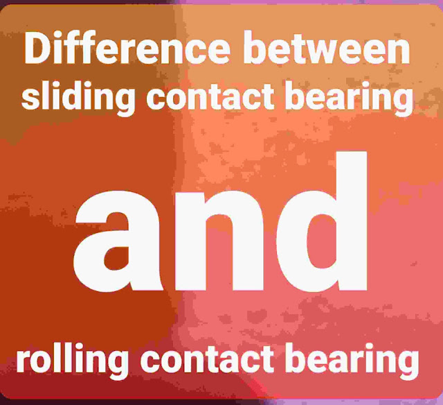 difference betwixt sliding contact bearing too rolling contact bearing Difference betwixt sliding contact bearing too rolling contact bearing