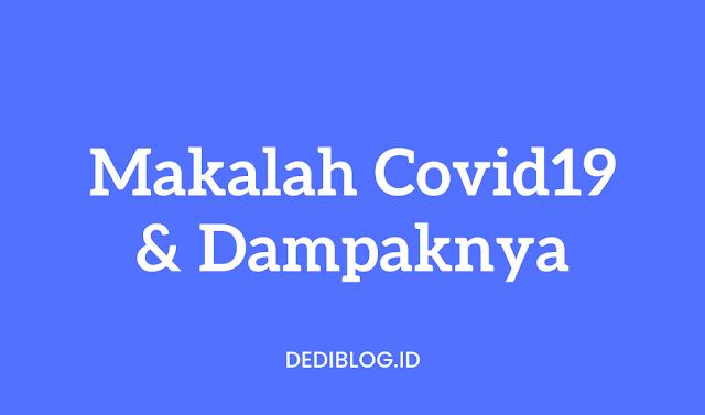 Makalah Covid 19 Dampaknya Terhadap Perekonomian Indonesia