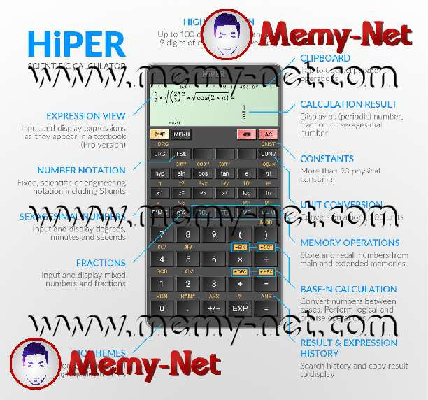 The application of the Casio calculator on your phone or iPhone or computer is exclusive and free