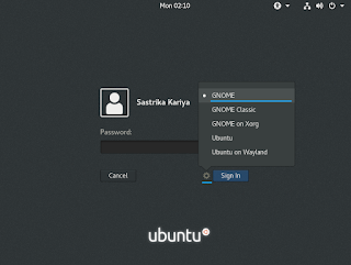 Set GNOME sebelum login ke desktop ubuntu