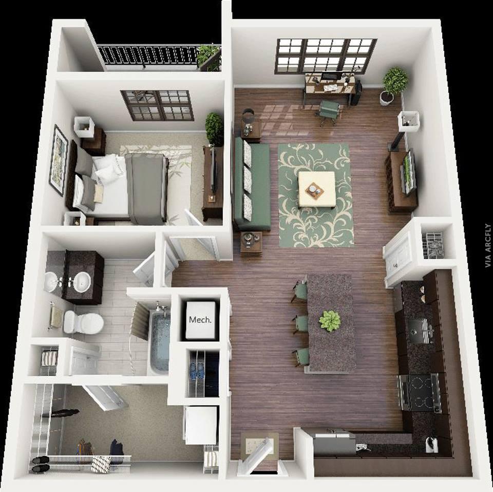 50 BEAUTIFUL 3D FLOOR PLAN DESIGNS