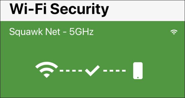 شاشة Wi-Fi Security في Norton Mobile Security لـ iPhone