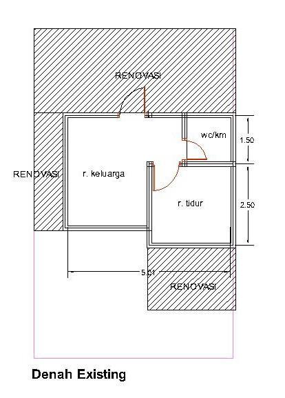 gambar denah rumah minimalis type 21 1
