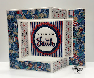 Our Daily Bread Designs Stamp/Die Duos: Walk by Faith, Paper Collection: Nautical, Custom Dies: Tri-Fold Card with Layers, Double Stitched Circles, Filigree Circles