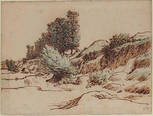 Жан Франсуа Милле - Пейзаж, Виши. 1866