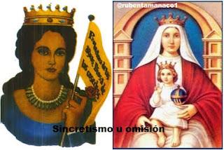 María Lionza, Virgen, Coromoto, Sincretismo