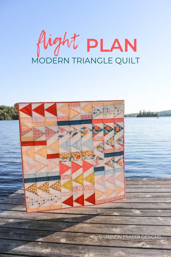 Rollakan Flight Plan Quilt | Q4 Finish-a-Long List of Projects | Shannon Fraser Designs #babyquilt #modernquilt #modernnursery #trianglequilt
