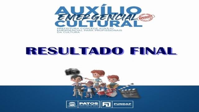 Prefeitura de Patos divulga resultado final da chamada pública da Lei Emergencial da Cultura