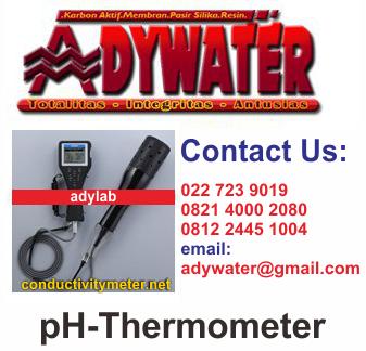 Jual PH Thermometer Suhu Meter | pH, pH (mV), ORP, DO, CONDUCTIVITY, salinitas, TDS, air laut/seawater, specific gravity, suhu, turbidity, dan kedalaman air/water depth.