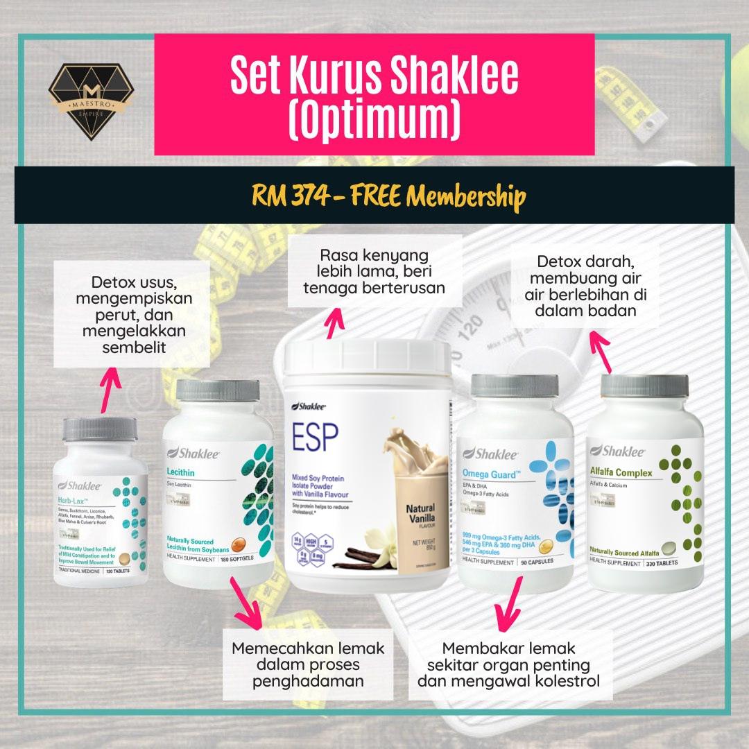 3 pilihan set kurus Shaklee paling popular