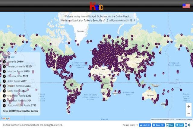 280.000 en procesión virtual por el Genocidio Armenio