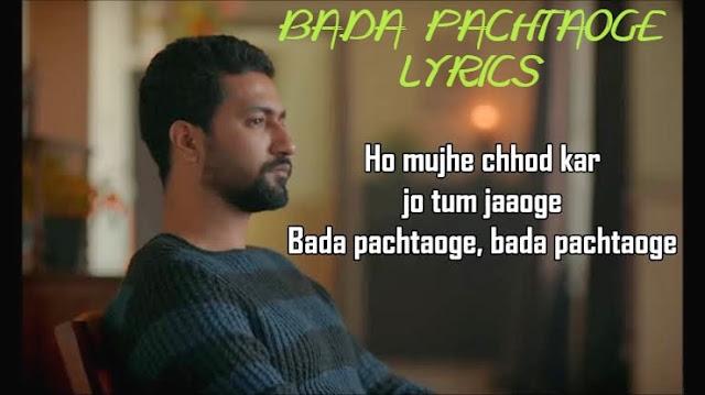 Arijit Singh: Pachtaoge lyrics