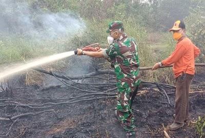 Karhutla Kembali Terjadi, 6,5 Hektare Lahan di Handil Usang Terbakar