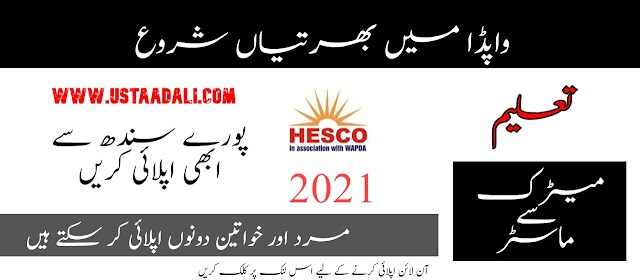 Latest Government Jobs In Pakistan Today || WAPDA Jobs 2021