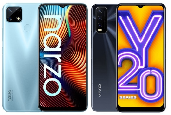 Realme Narzo 20 Vs Vivo Y20 Comparison