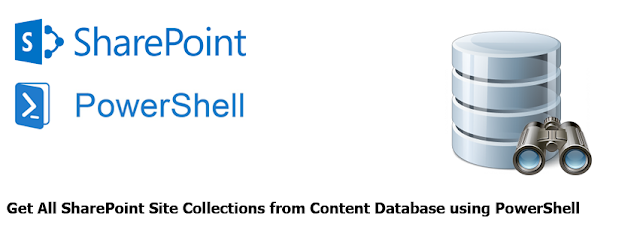 Get sharepoint site collection from content database using powershell